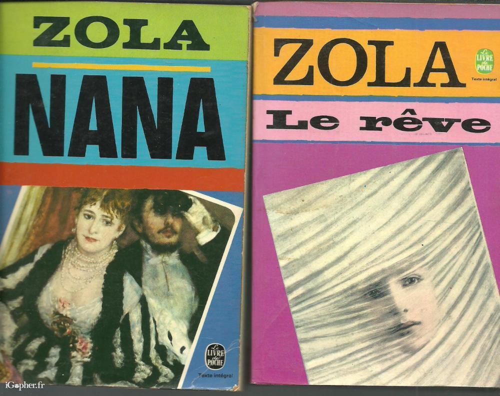 Livres Emile Zola Au Choix