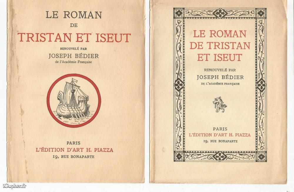 Livre Le Roman De Tristan Et Iseut Joseph Bedier