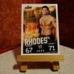 Carte de catch Cody Rhodes Slam Attax (2 versions)
