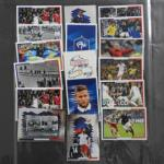 17 cartes stickers FFF Euro 2016