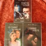 3 DVD Films d'Alfred Hitchcock