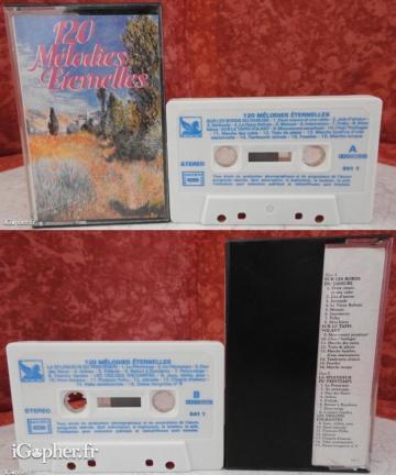 K7 audio : 120 mélodies (3 volumes)