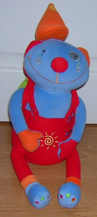 Chat clown en peluche qui chante et parle - Berchet