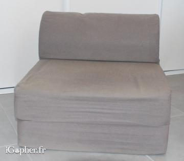 Chauffeuse couchage d'appoint 2 en 1