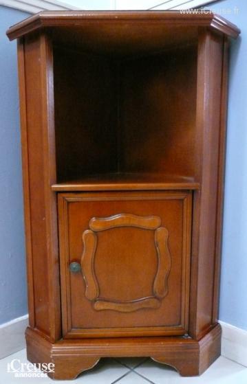 Petit meuble d 39 angle en bois exotique - Meubles en bois exotique ...