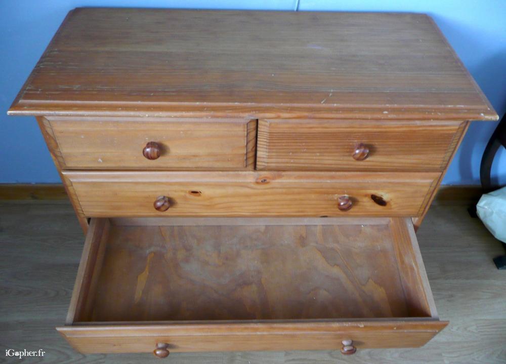 meubles commode pin  tiroirs
