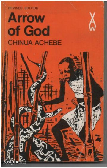 "Livre en anglais ""Arrow of God"" de Chinua Achebe"