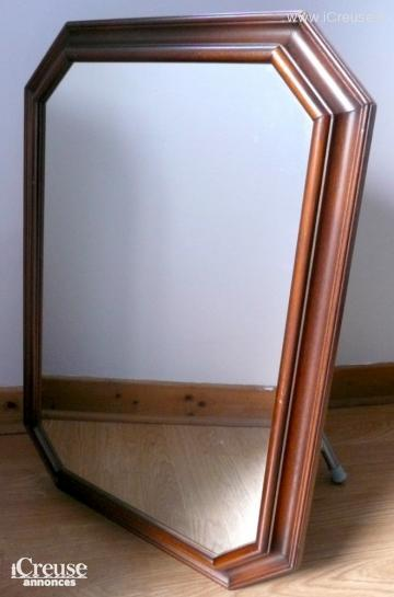 Grand miroir octogonal