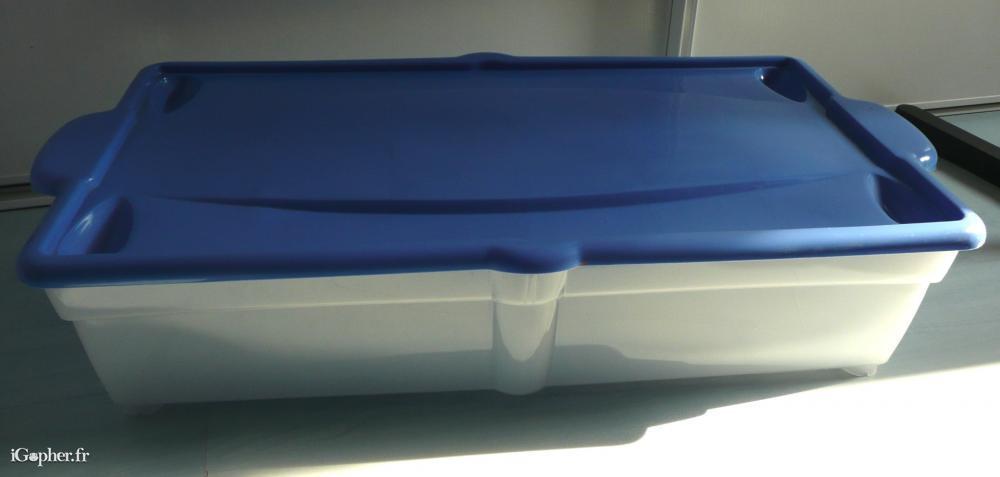 bac de rangement dessous de lit. Black Bedroom Furniture Sets. Home Design Ideas
