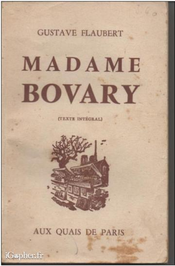 Livre : Madame Bovary (Gustave Flaubert)