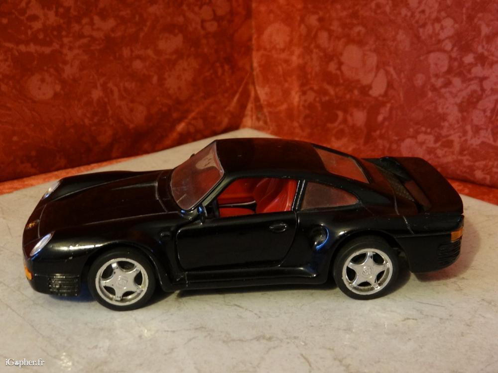 voiture miniature porsche 959 noire. Black Bedroom Furniture Sets. Home Design Ideas