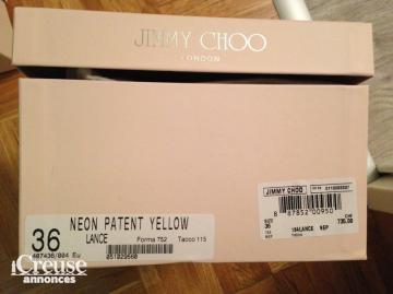 Sandales Jimmy Choo neuves jaune fluo taille 36