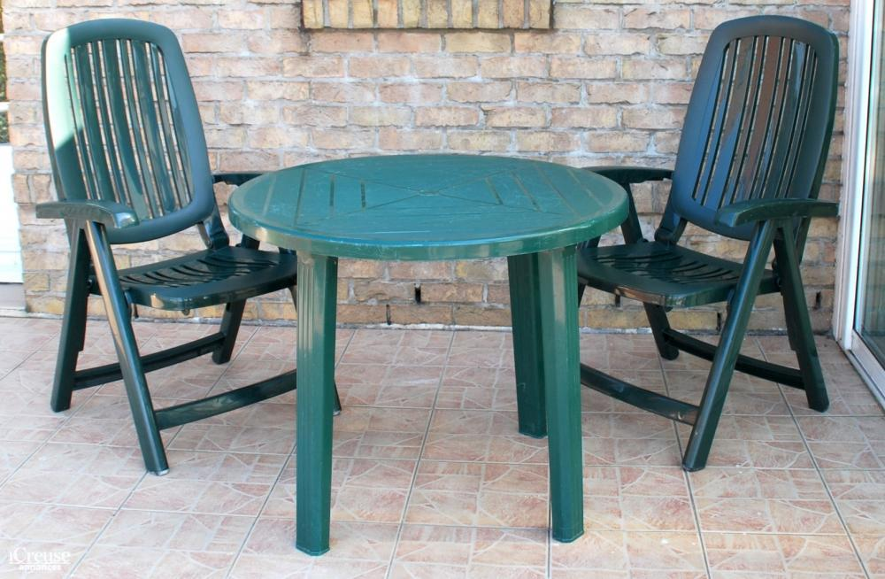salon de jardin vert table ronde et 2 fauteuils relax. Black Bedroom Furniture Sets. Home Design Ideas