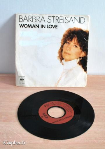 Vinyle Barbra Streisand : Woman in love (45T)