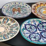 4 assiettes décoratives tunisiennes