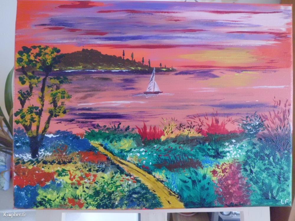 Peinture acrylique sur toile for Peinture sur tableau