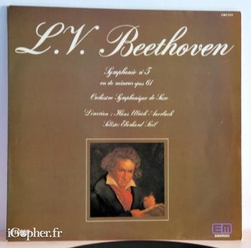 Vinyle 33 tours Beethoven Symphony N°5