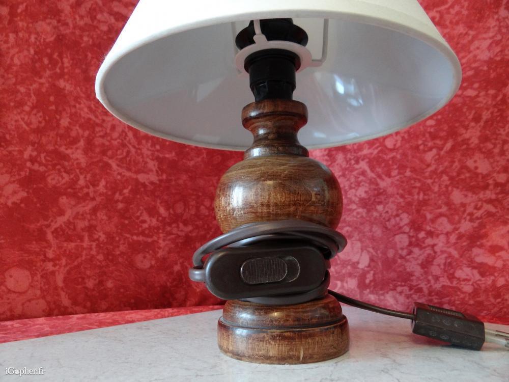 lampe de chevet rustique. Black Bedroom Furniture Sets. Home Design Ideas