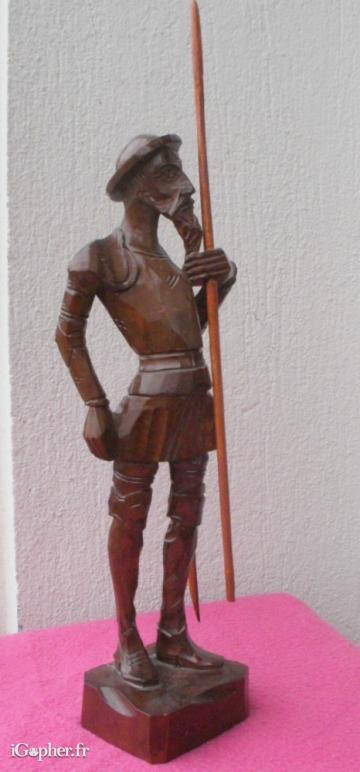 Sculpture en bois statuette Don Quichotte 27 cm iGopher fr # Sculpture En Bois A Vendre