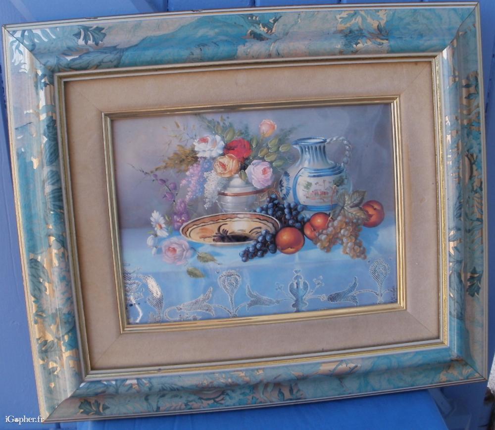 Peinture sur plaque maill e nature morte for Peinture sur email
