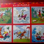 6 puzzles Mickey Kids (25 pièces)