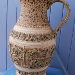 Vase avec anse - Poterie West Germany