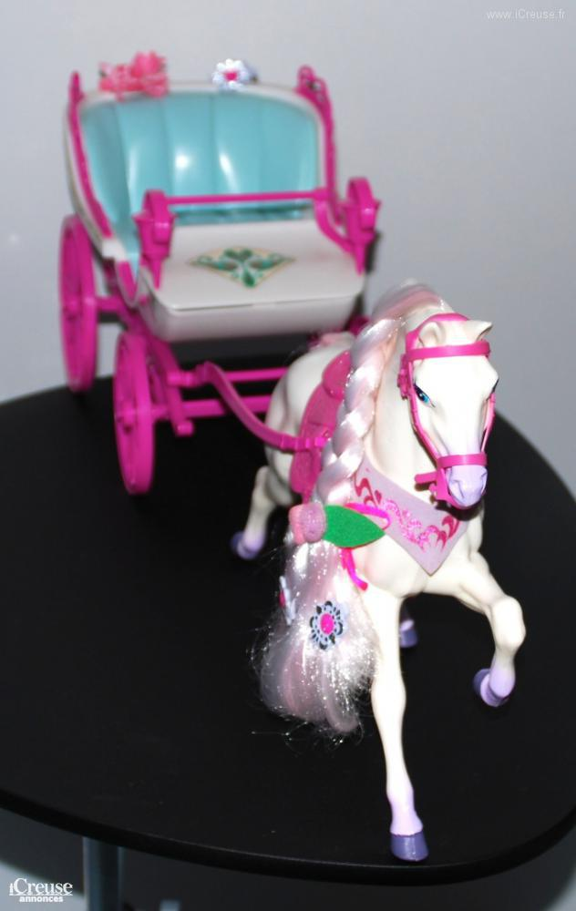 Cal che barbie avec cheval diva - Caleche barbie ...
