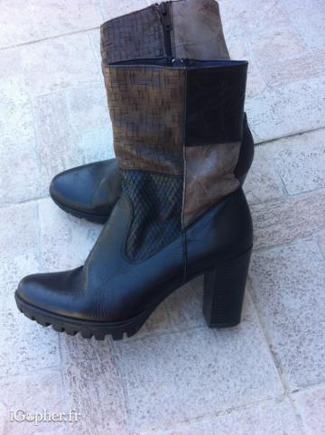 0cebd1c2c78 Bottines mi-hautes en cuir. annonce dans Vêtements   Chaussures ...