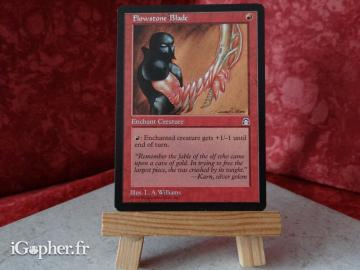 Carte Magic the Gathering : Lame de fluipierre (Flowstone Blade)