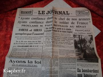 Journal de guerre : Le Journal du 22 mai 1940