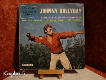 Vinyle 45T Johnny Hallyday : D'où viens-tu Johnny