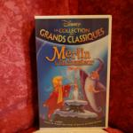 VHS Disney Merlin L'enchanteur (dessin animé)