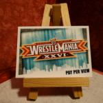 Carte de catch Slam Attax Wrestle Mania XXVI