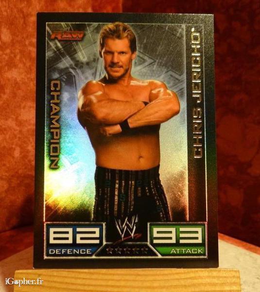 sleek catch differently Carte de catch Chris Jericho (88-84)-(brillante)