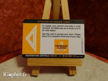 carte hotel premiere classe Carte magnétique Première Classe Hotels   iGopher.fr