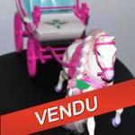 calèche barbie cheval diva - bonne idée cadeaux pour Noël