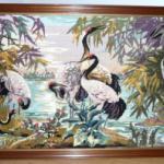 Idée cadeau Fête des Mères 2015 : Tableau canvas oiseaux fait main